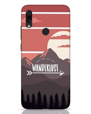 Shop Wanderlust Mountains Xiaomi Redmi Note 7 Pro Mobile Cover-Front