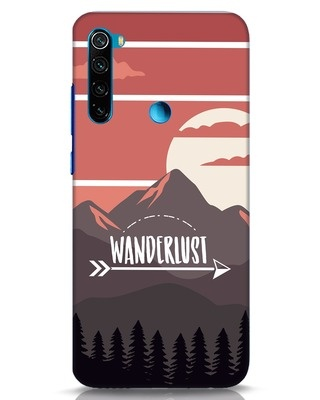 Shop Wanderlust Mountains Xiaomi Redmi Note 8 Mobile Cover-Front