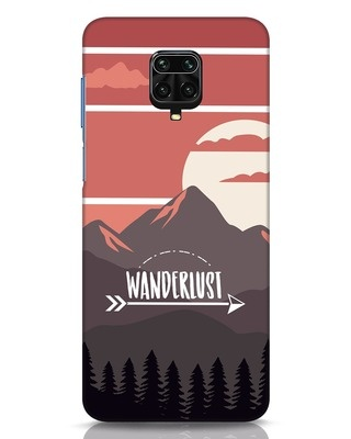 Shop Wanderlust Mountains Xiaomi Redmi Note 9 Pro Mobile Cover-Front