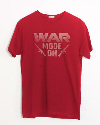 Shop War Mode On Half Sleeve T-Shirt-Front