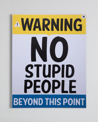 """Shop Warning Rectangular Graphic Board-18""""x14"""" Multicolor-Front"""