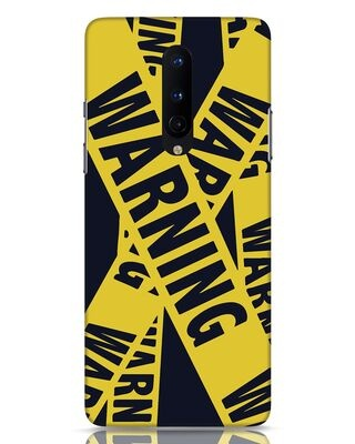 Shop Warning Tresspasser OnePlus 8 Mobile Cover-Front