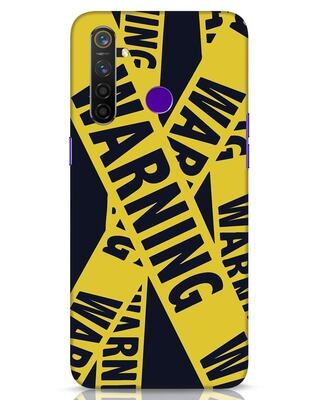 Shop Warning Tresspasser Realme 5 Pro Mobile Cover-Front