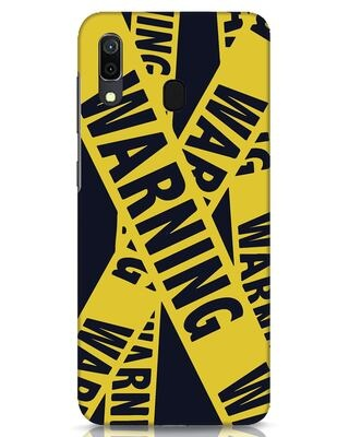 Shop Warning Tresspasser Samsung Galaxy A30 Mobile Cover-Front