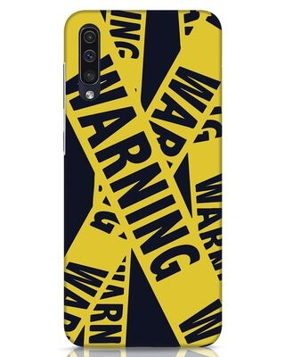 Shop Warning Tresspasser Samsung Galaxy A50 Mobile Cover-Front