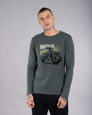 Shop Warrior Biker Full Sleeve T-Shirt-Front