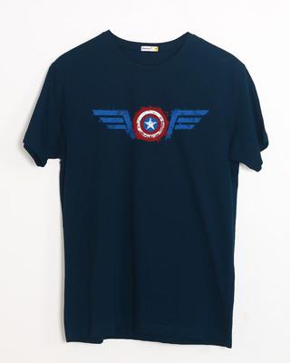 Buy Watercolor Captain America Half Sleeve T-Shirt (AVL) Online India @ Bewakoof.com