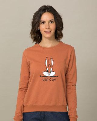 Shop Watsup Bunny Sweatshirt-Front