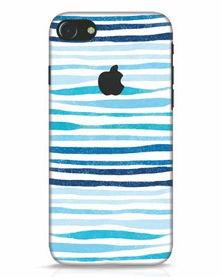 Shop Waves iPhone 7 Logo Cut Mobile Cover-Front