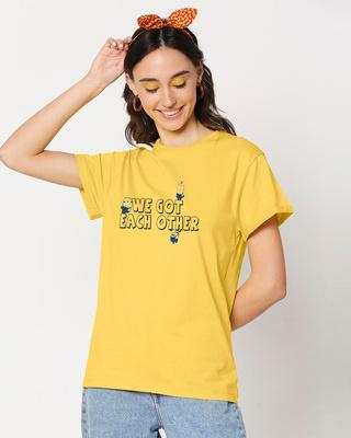 Shop We Got Each Other Boyfriend T-Shirt-Front