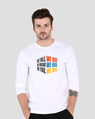 Shop We Rise   Full Sleeve T-Shirt-Front