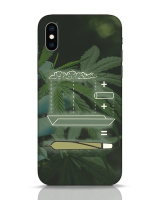 Shop Weed Math iPhone XS Mobile Cover-Front