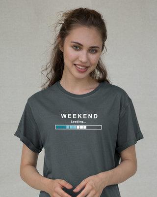 Shop Weekend Loading Boyfriend T-Shirt-Front