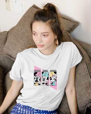 Shop Weekend Minnie Boyfriend T-Shirt (DL) White-Front