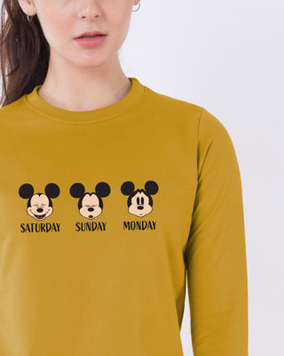 Shop Weekend Mood Mickey Sweatshirt (DL)-Front