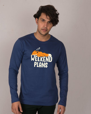 Shop Weekend Plans Full Sleeve T-Shirt-Front