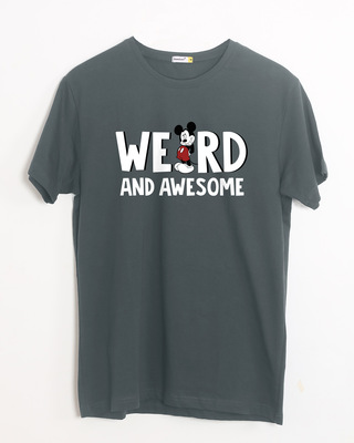 Shop Weird & Awesome Mickey Half Sleeve T-Shirt (DL)-Front