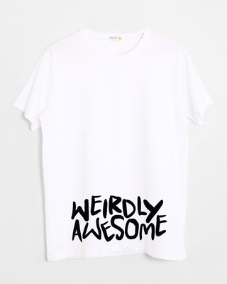 Weirdly Awesome Half Sleeve Printed T-Shirt