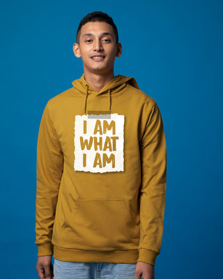 Shop What I Am Fleece Hoodies-Front