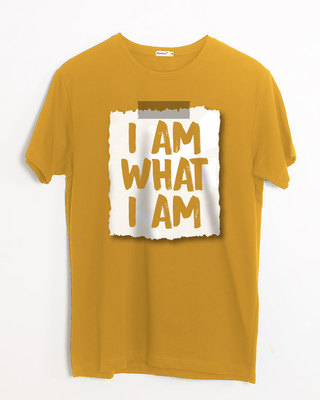 Shop What I Am Half Sleeve T-Shirt-Front