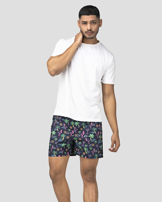Shop Whats Down Blue Nautical Boxer-Front