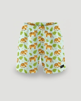 Shop What's Down Green Sherkhan Mens Boxers-Front