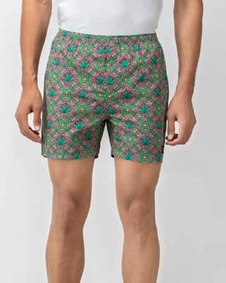 Shop Whats Down Men Multicolour 420 Boxers-Front