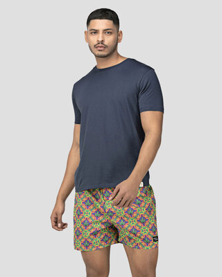 Shop Whats Down Neon 420 Boxer-Front