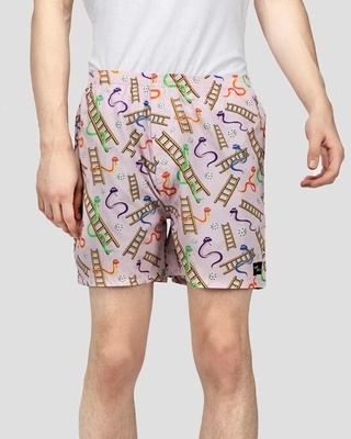 Shop What's Down Pink Snakes And Lads Mens Boxers-Front