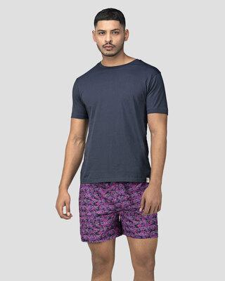 Shop Whats Down Purple Camo Boxer-Front