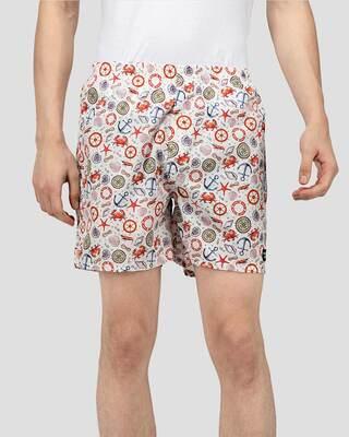 Shop Whats Down Men White Nautical Boxers-Front
