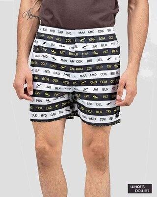 Shop Whatsdown Multicolour Cities Boxers-Front