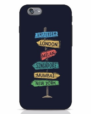 Shop Which Way To Go iPhone 6 Mobile Cover-Front