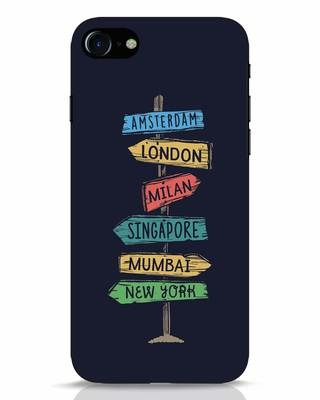 Shop Which Way To Go iPhone 8 Mobile Cover-Front