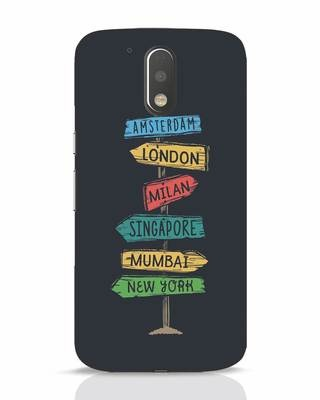 Shop Which Way To Go Moto G4 Plus Mobile Cover-Front
