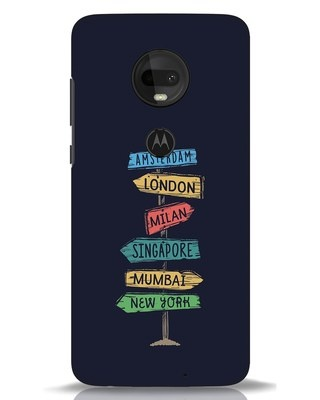 Shop Which Way To Go Moto G7 Mobile Cover-Front