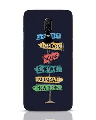 Shop Which Way To Go OnePlus 6 Mobile Cover-Front