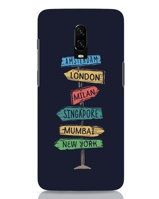 Shop Which Way To Go OnePlus 6T Mobile Cover-Front