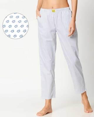 Shop White AOP Women's Pyjama-Front