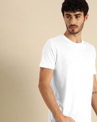 Shop White Half Sleeve T-Shirt-Front