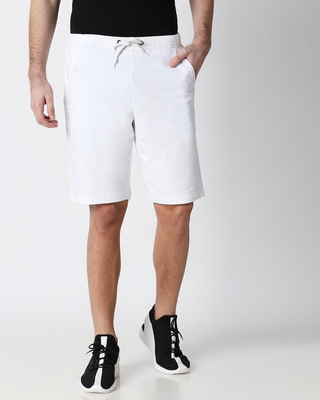 Shop White Men's Casual Shorts-Front