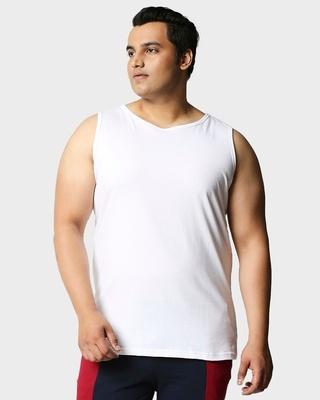 Shop White Plus Size Vest-Front