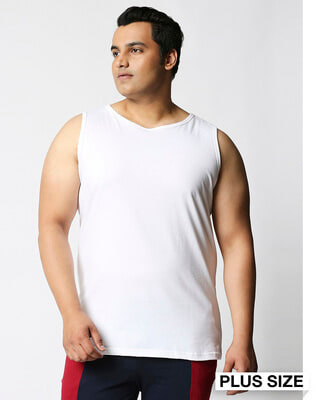 Shop White Plus Size Vest-Front