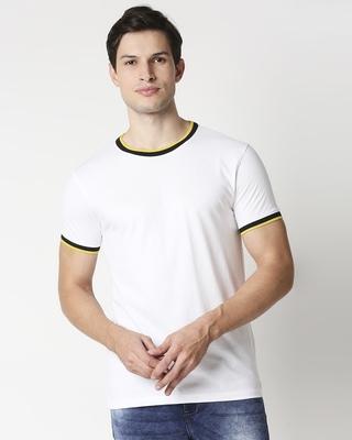 Shop White Round neck Varsity H/S T-shirt-Front