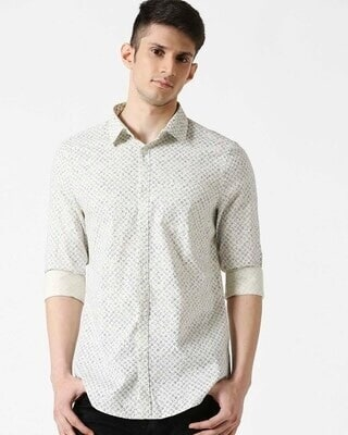 Shop White SLUB Shirt-Front