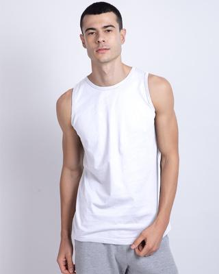 Shop White Vest-Front
