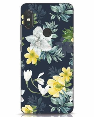 Shop White Yellow Floral Xiaomi Redmi Note 5 Pro Mobile Cover-Front