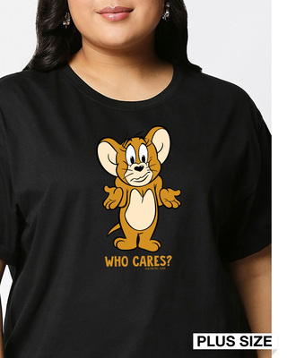 Shop Who Cares Jerry (TJL) Boyfriend Plus Size T-Shirt-Front