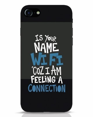 Shop Wi Fi iPhone 8 Mobile Cover-Front