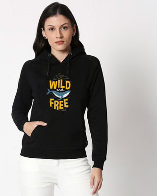 Shop Wild And Free Nautical Sweatshirt Hoodie Black-Front